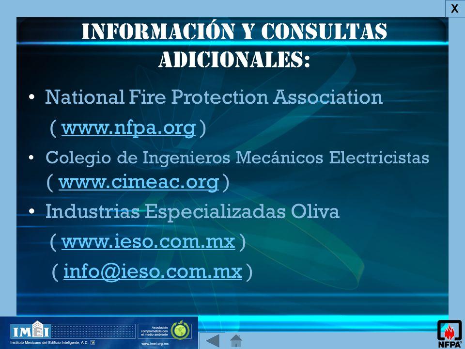 Información y consultas adicionales: