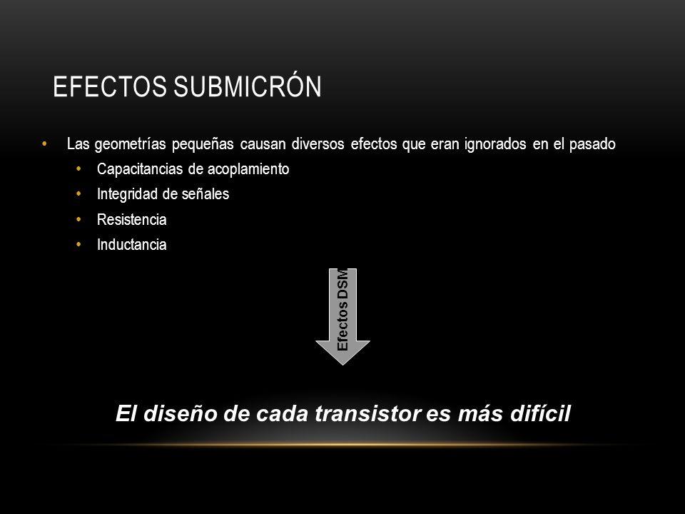 El diseño de cada transistor es más difícil