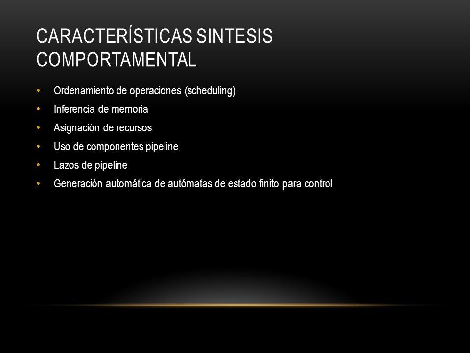 Características Sintesis Comportamental