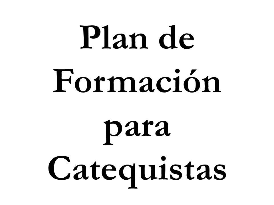 Plan de Formación para Catequistas
