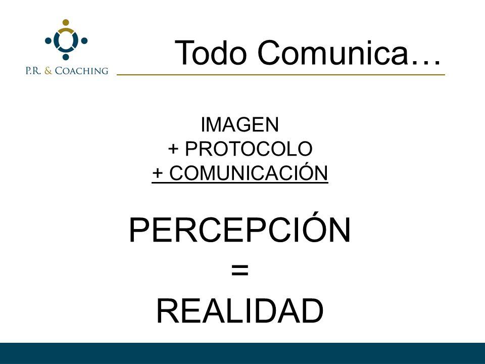 Todo Comunica… IMAGEN + PROTOCOLO + COMUNICACIÓN PERCEPCIÓN = REALIDAD