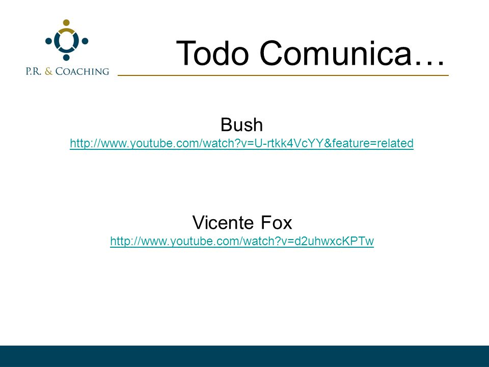 Todo Comunica… Bush Vicente Fox
