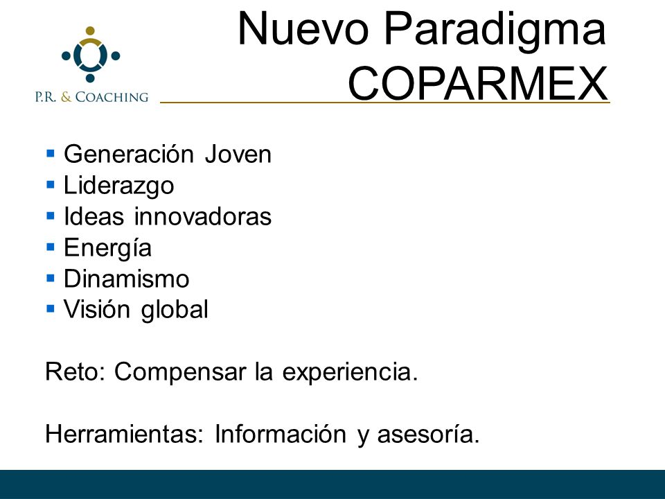 Nuevo Paradigma COPARMEX Generación Joven Liderazgo Ideas innovadoras