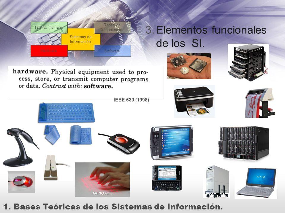 Elementos funcionales de los SI.