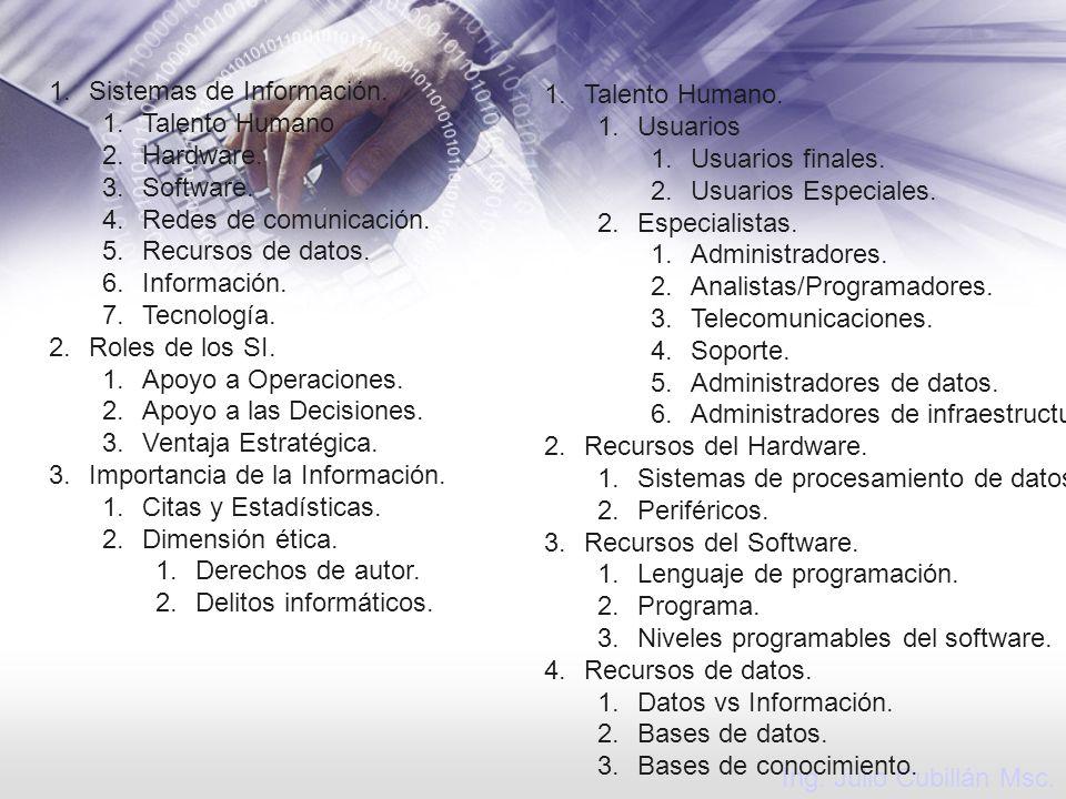Sistemas de Información.