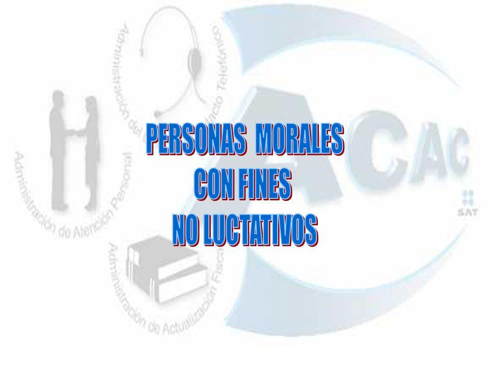 PERSONAS MORALES CON FINES NO LUCTATIVOS