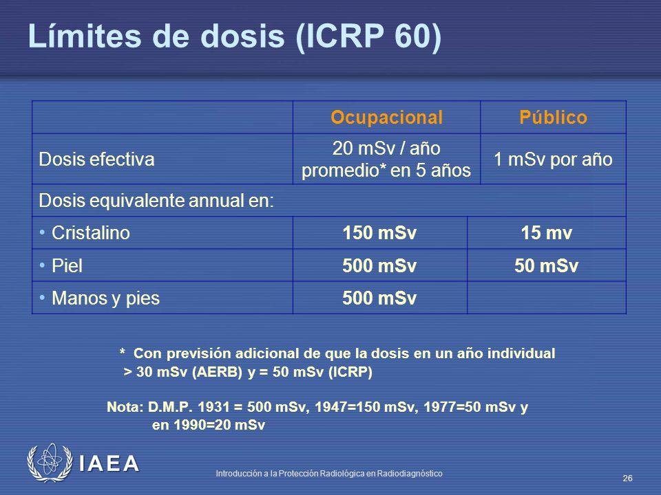 Límites de dosis (ICRP 60)