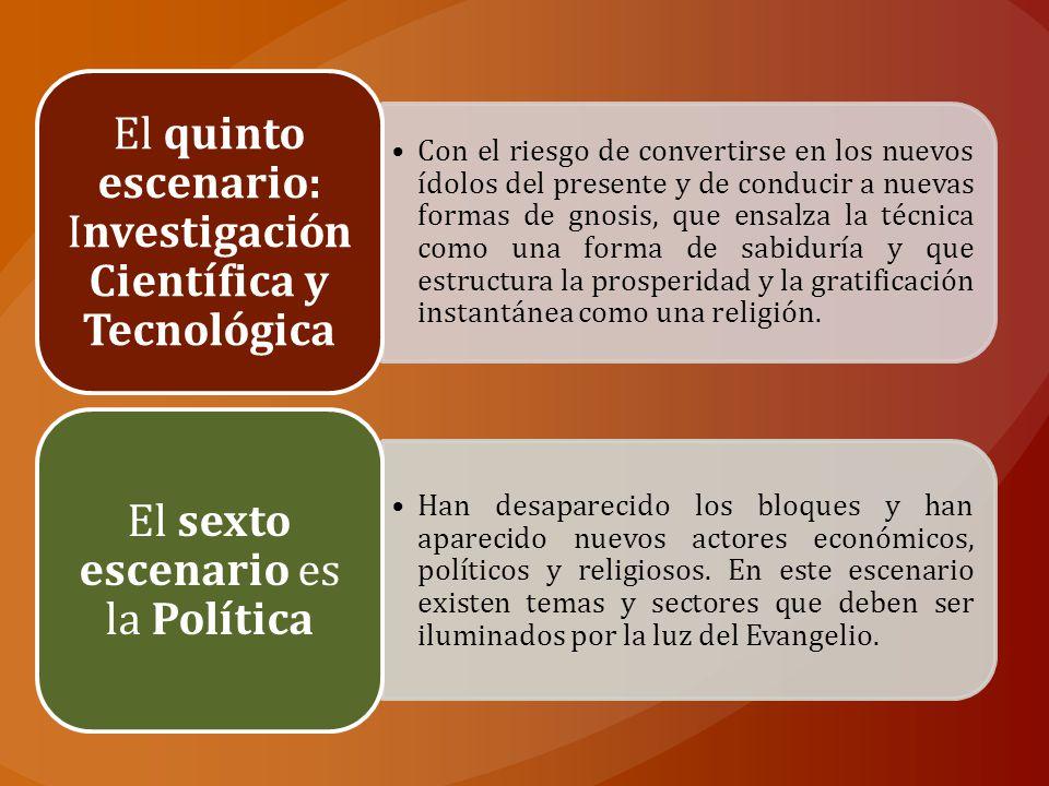 El quinto escenario: Investigación Científica y Tecnológica