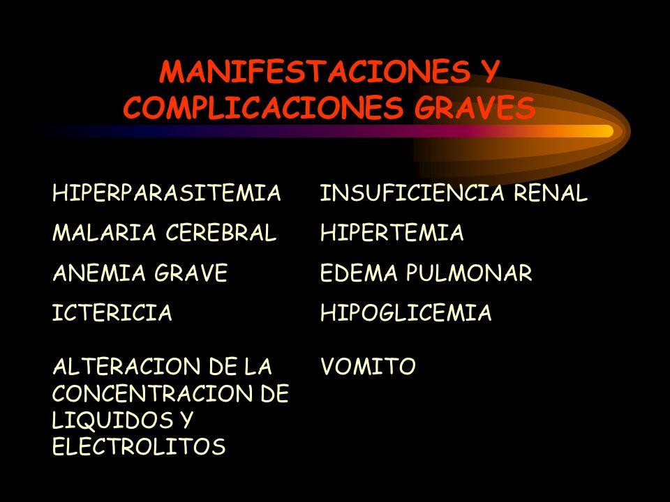 MANIFESTACIONES Y COMPLICACIONES GRAVES