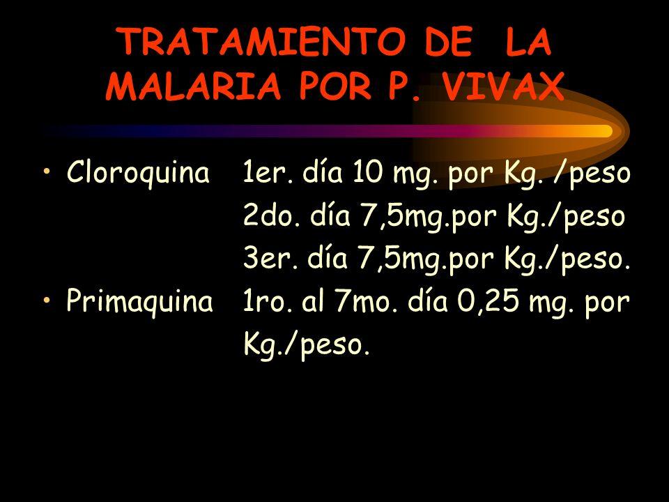TRATAMIENTO DE LA MALARIA POR P. VIVAX