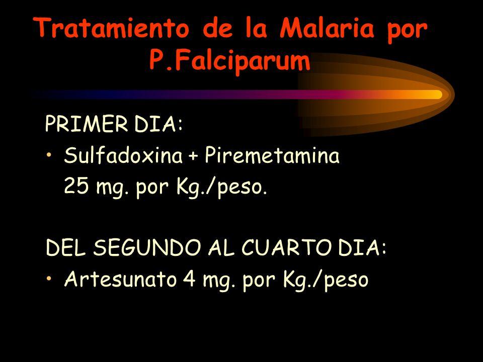 Tratamiento de la Malaria por P.Falciparum