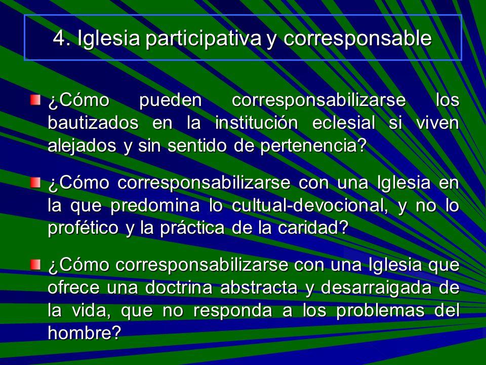 4. Iglesia participativa y corresponsable