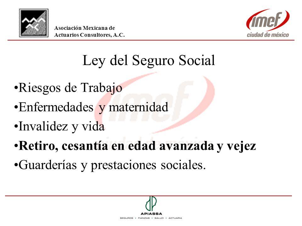 Ley del Seguro Social Riesgos de Trabajo Enfermedades y maternidad
