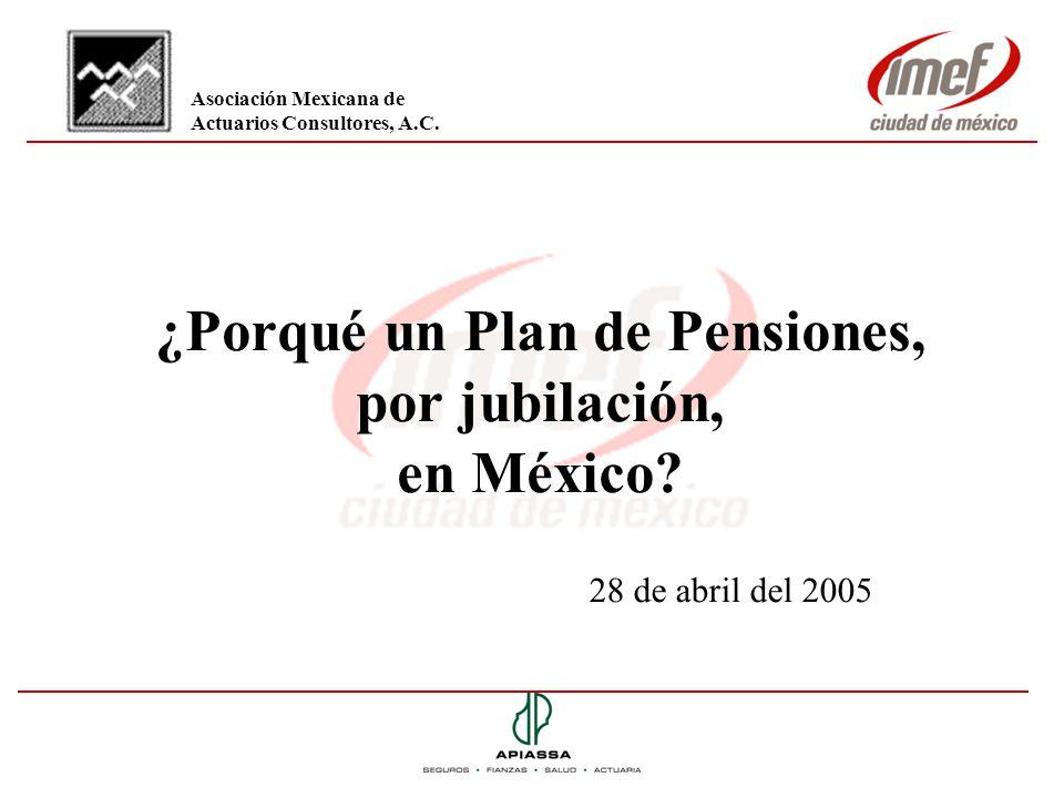 ¿Porqué un Plan de Pensiones, por jubilación, en México