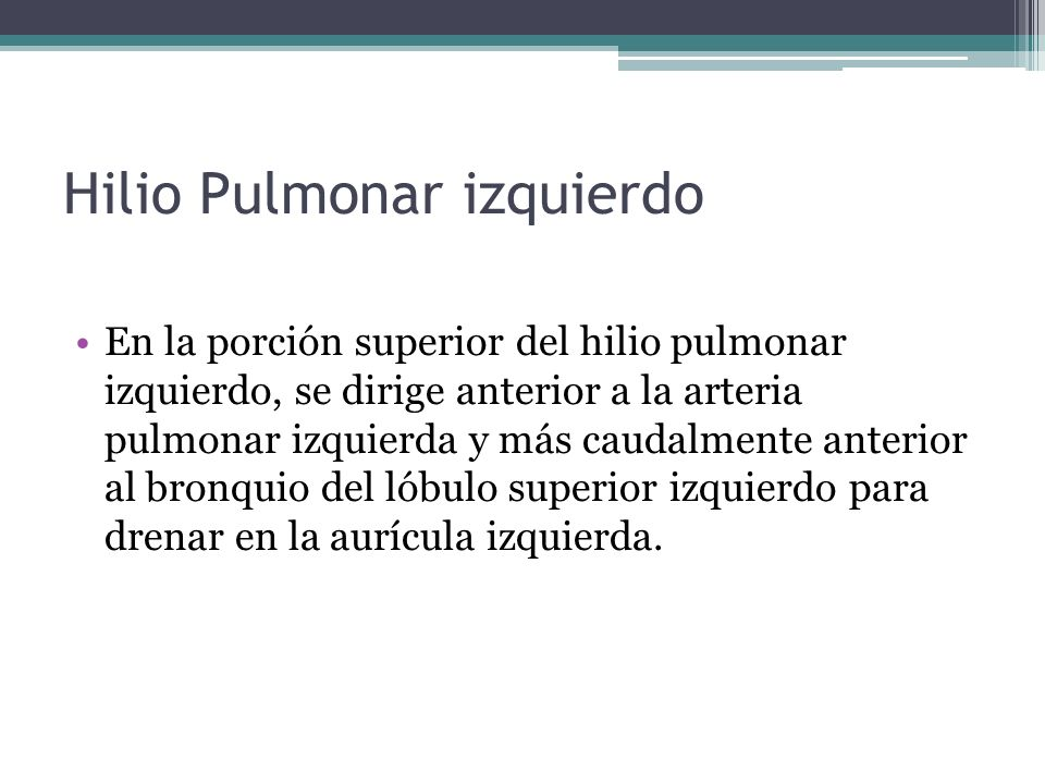 Hilio Pulmonar izquierdo