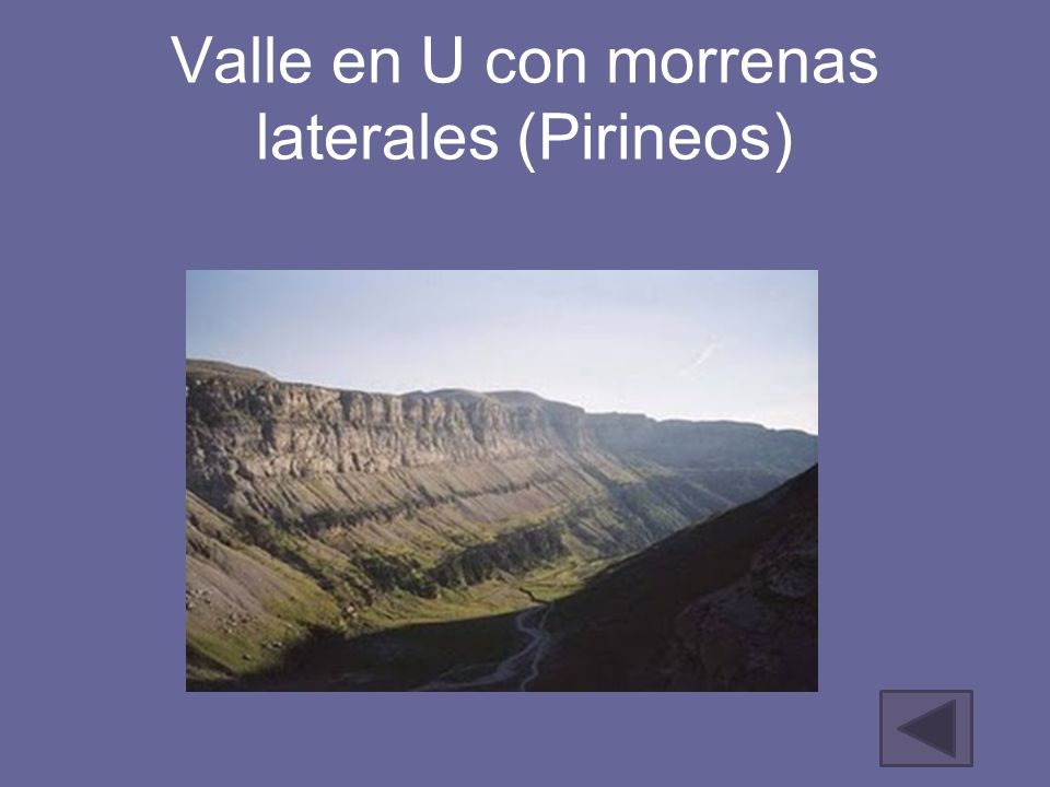 Valle en U con morrenas laterales (Pirineos)