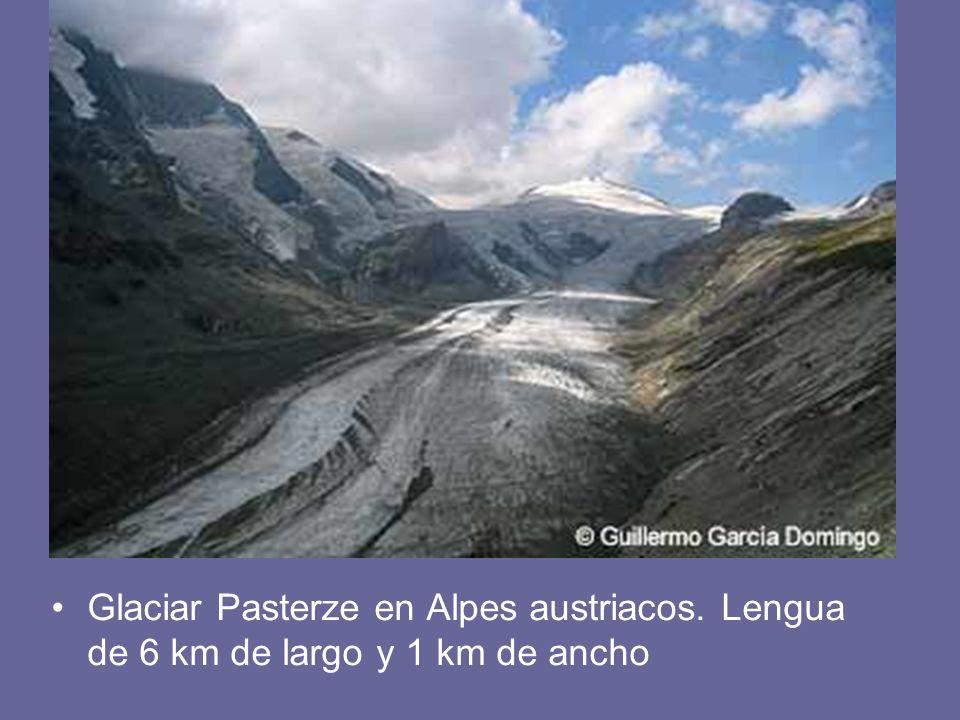 Glaciar Pasterze en Alpes austriacos