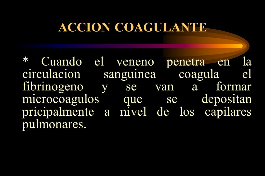 ACCION COAGULANTE
