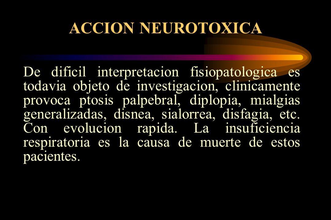 ACCION NEUROTOXICA