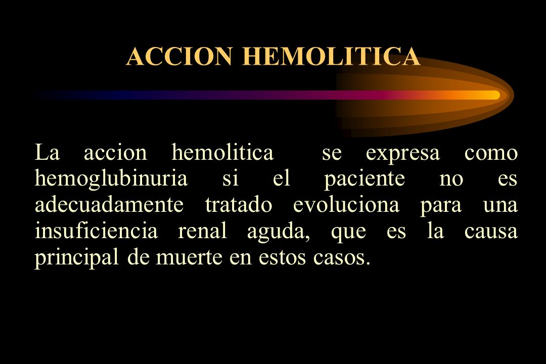 ACCION HEMOLITICA