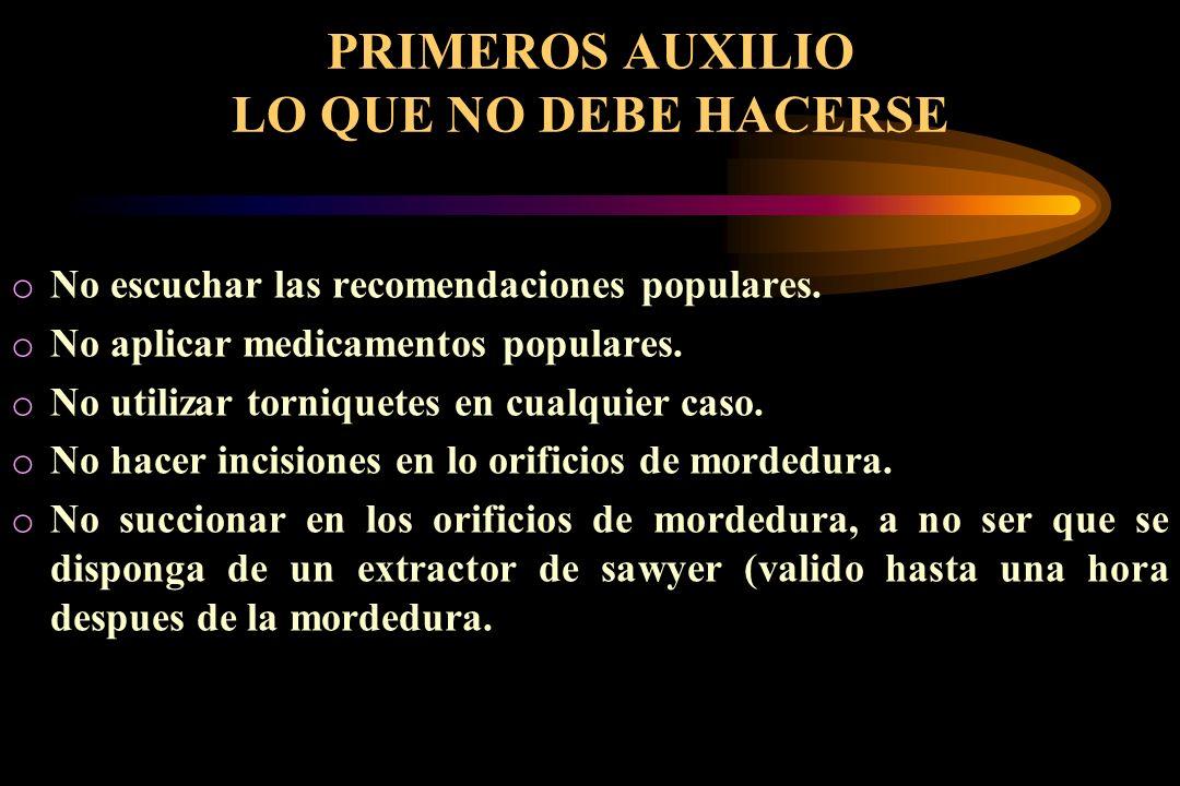 PRIMEROS AUXILIO LO QUE NO DEBE HACERSE