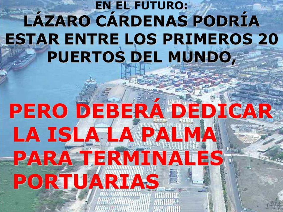 PERO DEBERÁ DEDICAR LA ISLA LA PALMA PARA TERMINALES PORTUARIAS