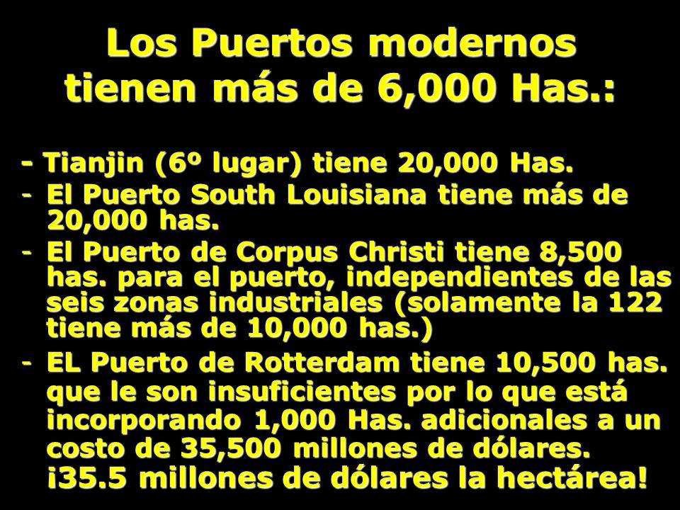 Los Puertos modernos tienen más de 6,000 Has.: