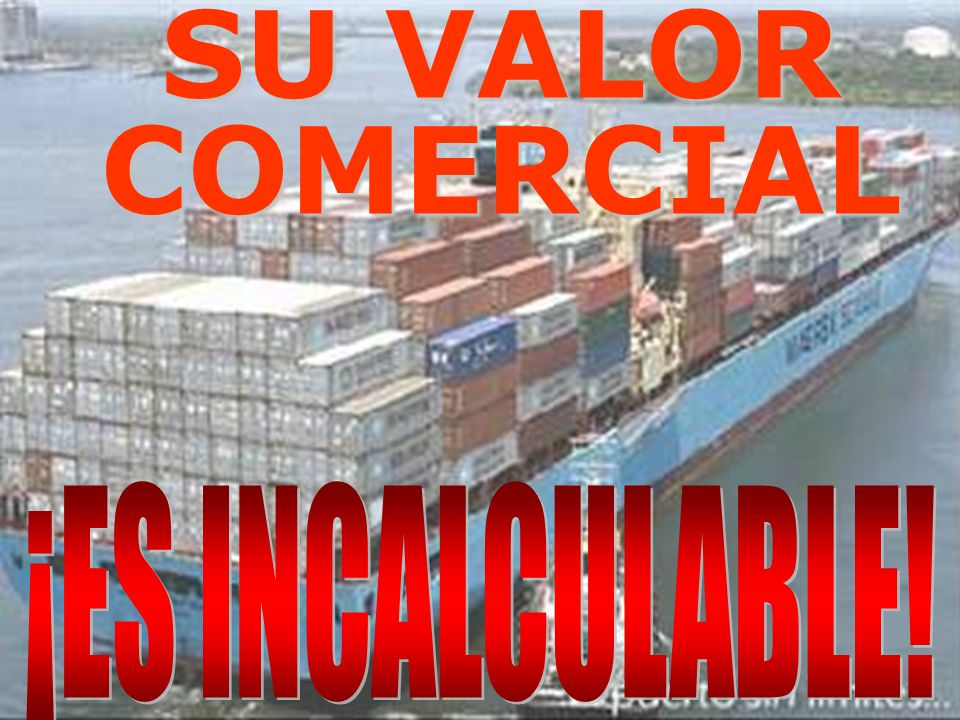 SU VALOR COMERCIAL ¡ES INCALCULABLE!