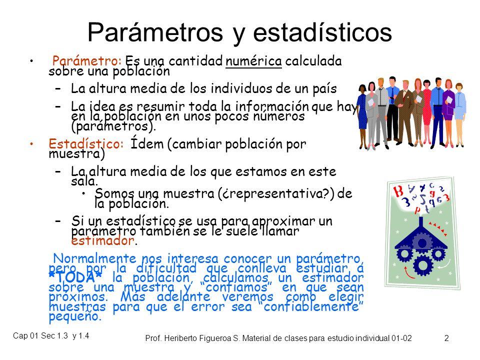 Parámetros y estadísticos