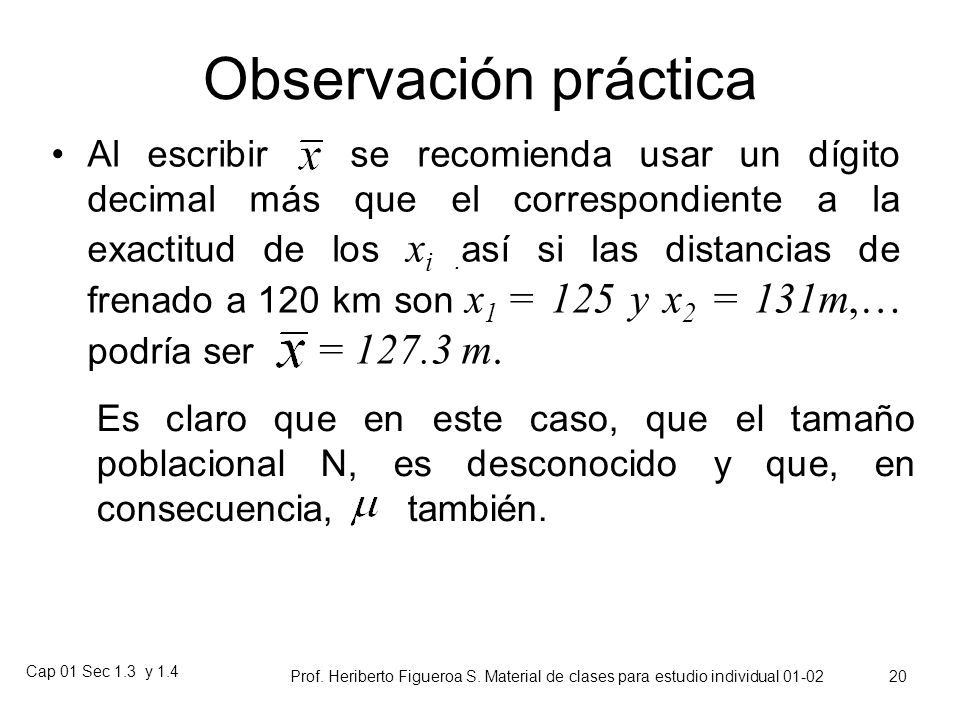 Observación práctica