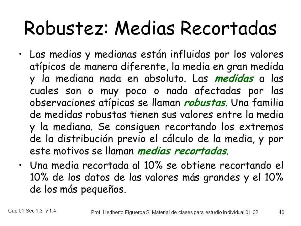 Robustez: Medias Recortadas