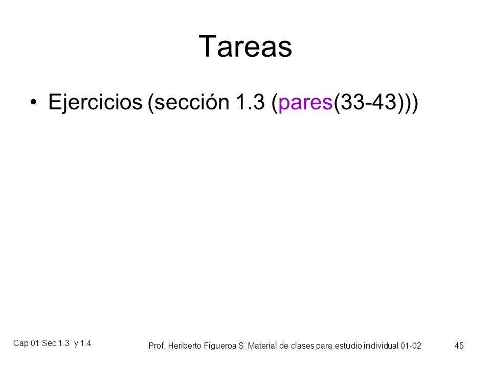 Tareas Ejercicios (sección 1.3 (pares(33-43))) Cap 01 Sec 1.3 y 1.4