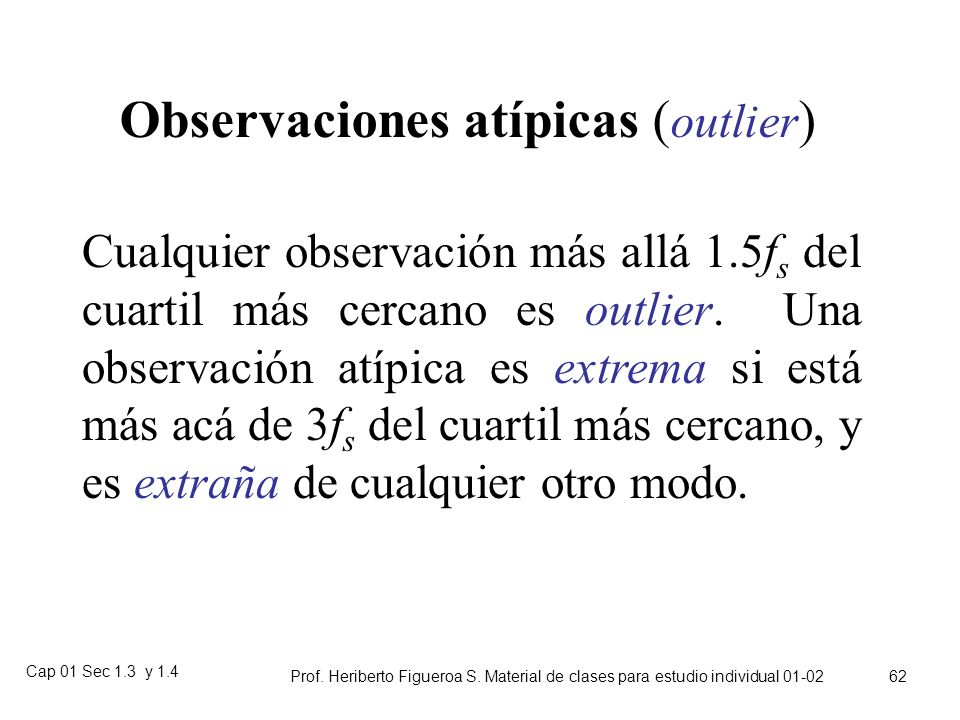 Observaciones atípicas (outlier)