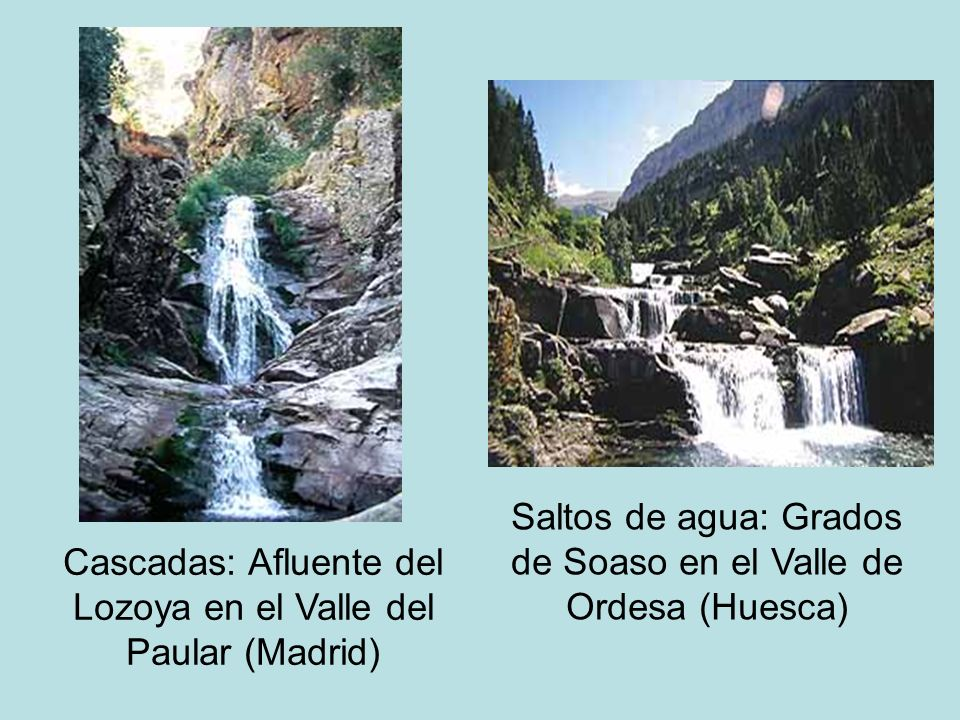 Saltos de agua: Grados de Soaso en el Valle de Ordesa (Huesca)