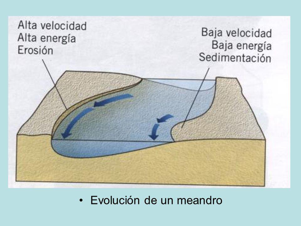 Evolución de un meandro