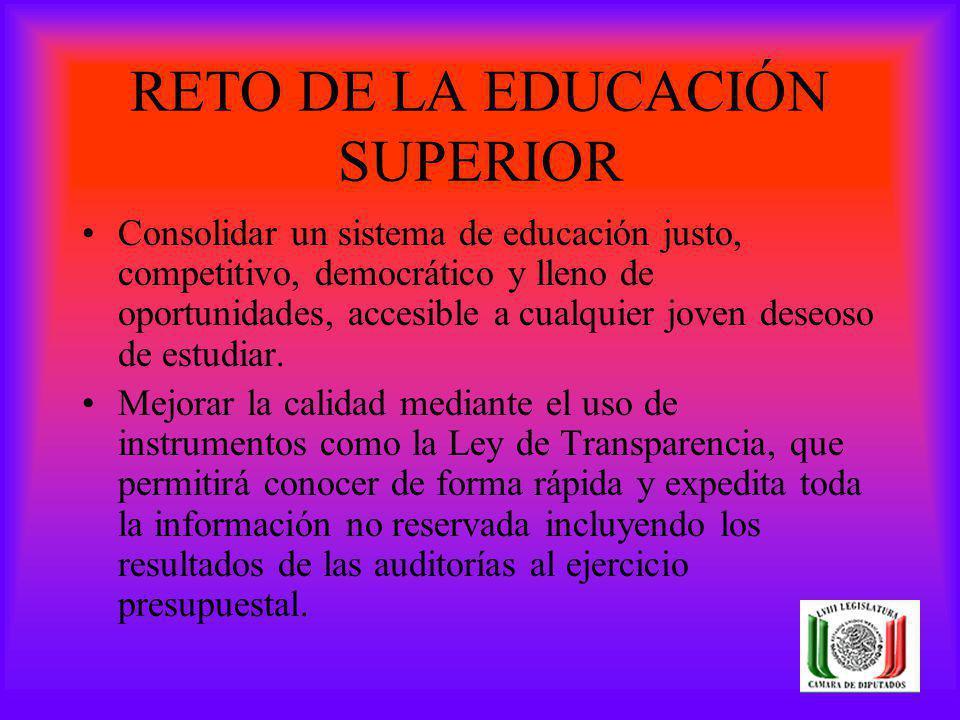 RETO DE LA EDUCACIÓN SUPERIOR