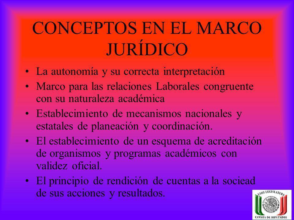CONCEPTOS EN EL MARCO JURÍDICO