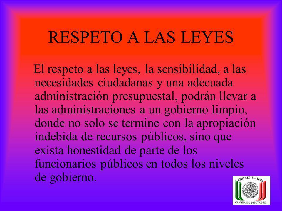 RESPETO A LAS LEYES