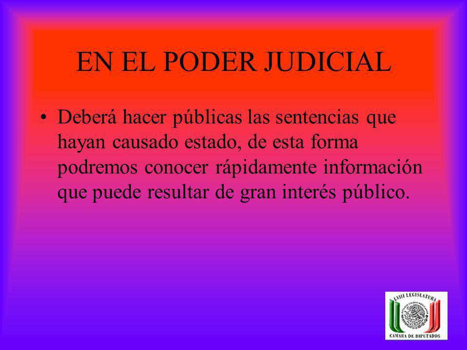 EN EL PODER JUDICIAL