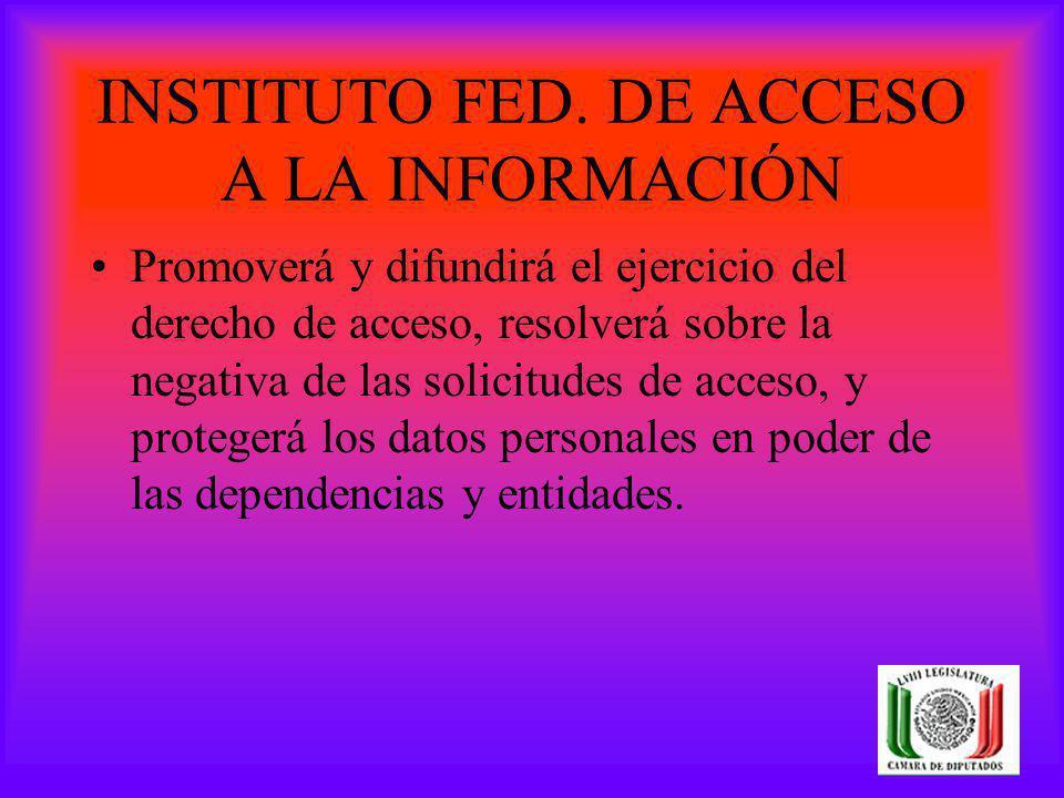 INSTITUTO FED. DE ACCESO A LA INFORMACIÓN