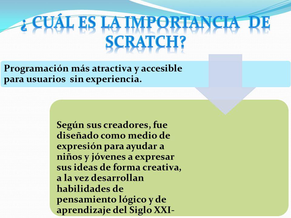 ¿ Cuál es la importancia de Scratch