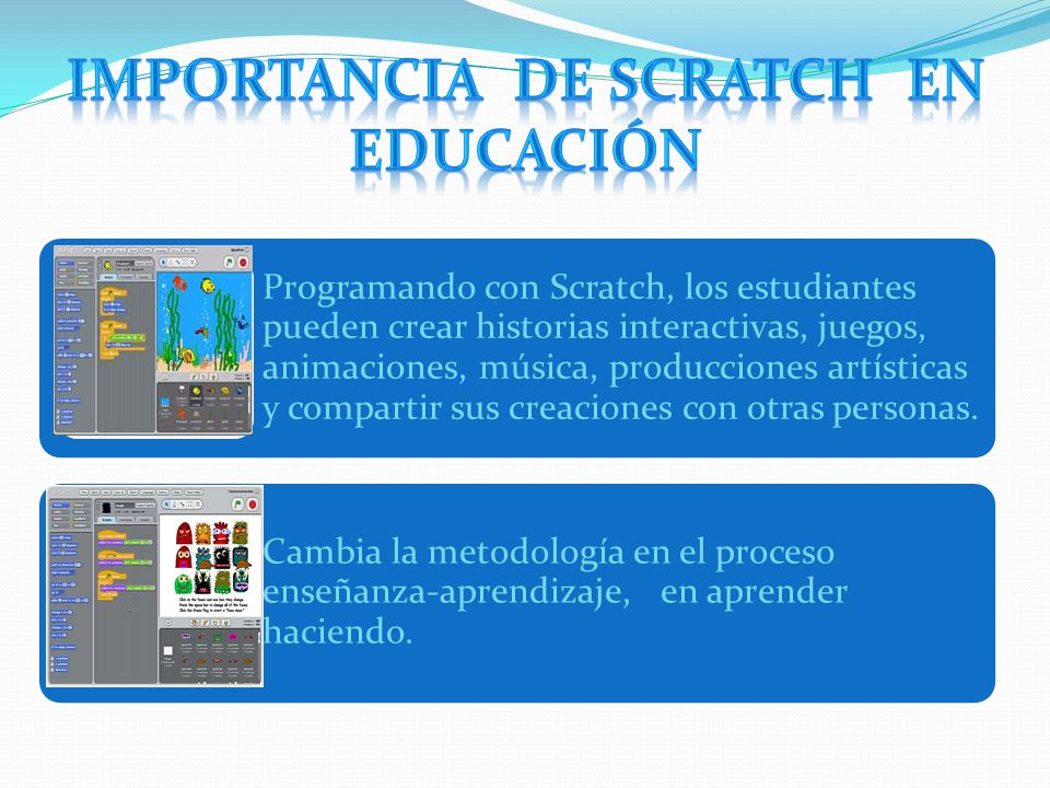 importancia de Scratch en educación