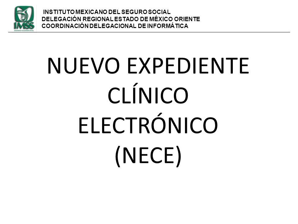 NUEVO EXPEDIENTE CLÍNICO ELECTRÓNICO