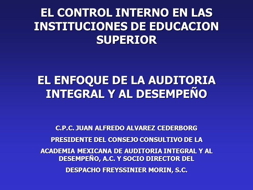 EL CONTROL INTERNO EN LAS INSTITUCIONES DE EDUCACION SUPERIOR
