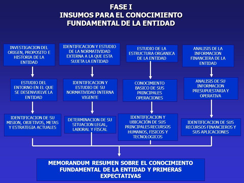 INSUMOS PARA EL CONOCIMIENTO FUNDAMENTAL DE LA ENTIDAD