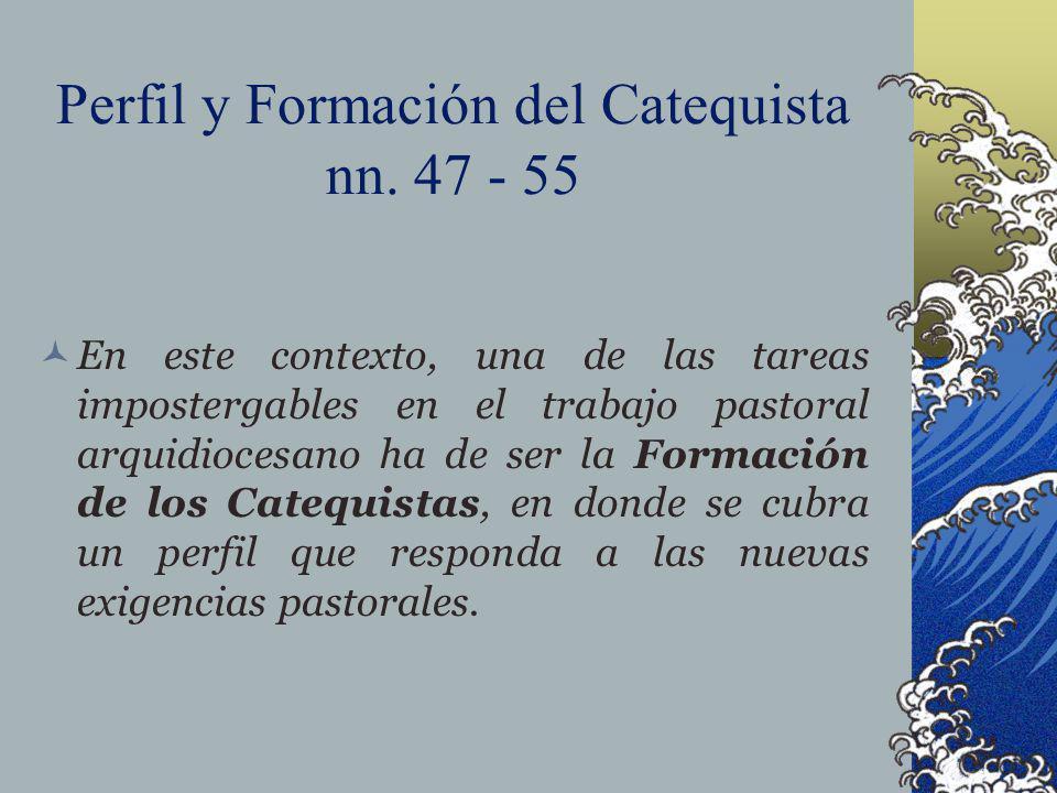 Perfil y Formación del Catequista nn. 47 - 55