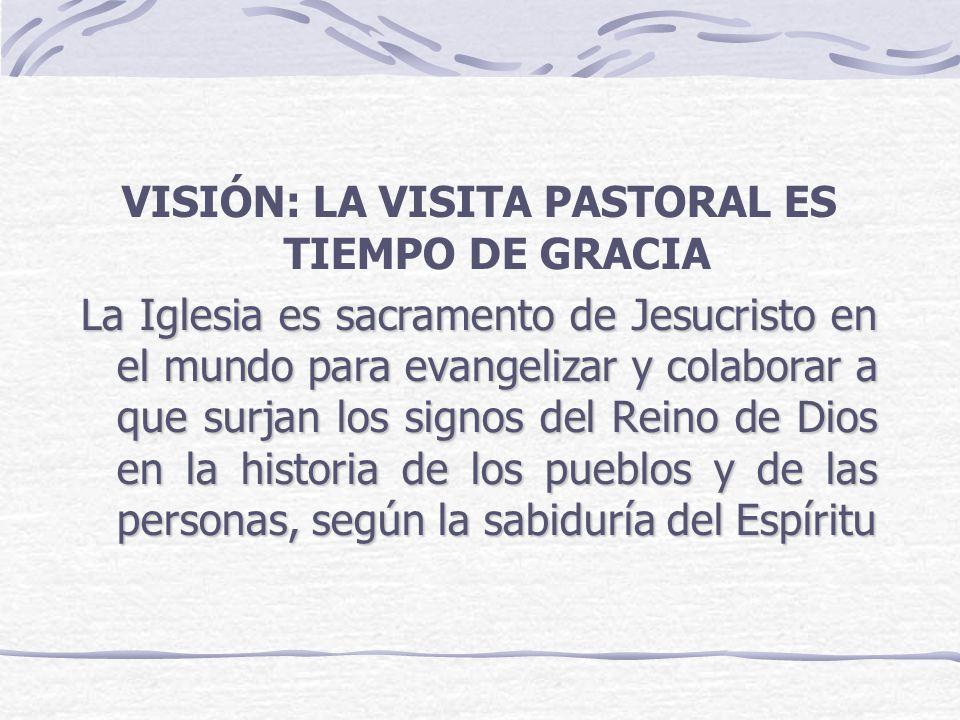 VISIÓN: LA VISITA PASTORAL ES TIEMPO DE GRACIA