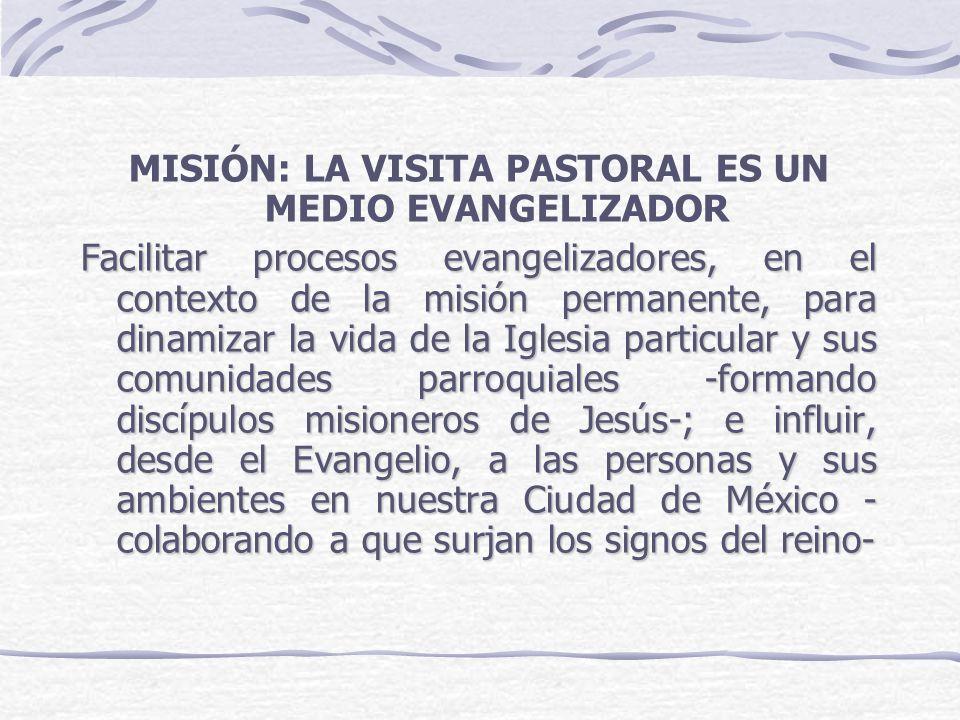 MISIÓN: LA VISITA PASTORAL ES UN MEDIO EVANGELIZADOR