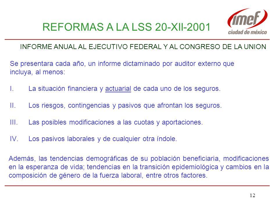 INFORME ANUAL AL EJECUTIVO FEDERAL Y AL CONGRESO DE LA UNION