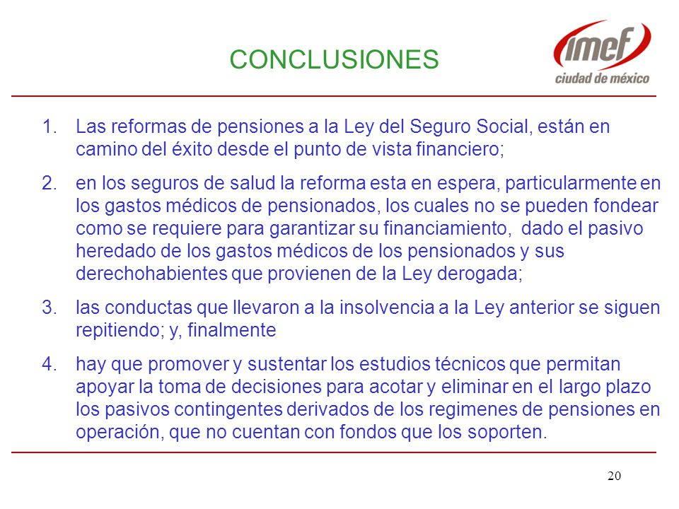 IMEF-AMAC abril 2005 CONCLUSIONES.